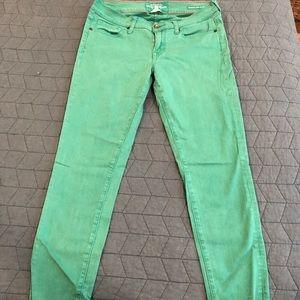 Lucky Brand Charlie Skinny Green Jeans